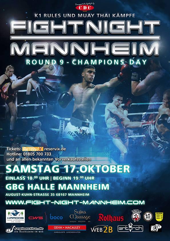 Mein nächster Kampf findet in Mannheim