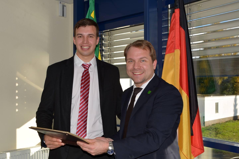 Jakob Styben und Bürgermeister