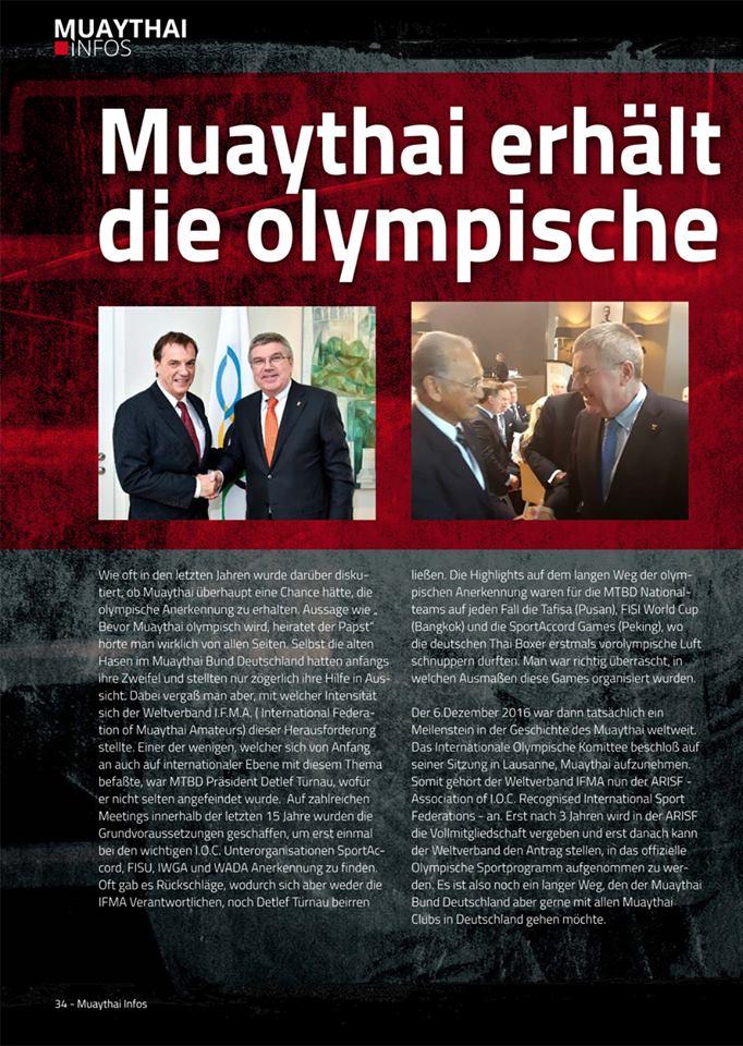 Olympische Anerkennung für Muaythai